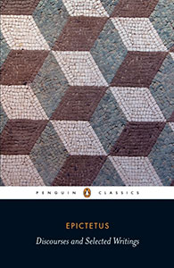 Front cover of the book 'Discourses and Selected Writings' by Epictetus.