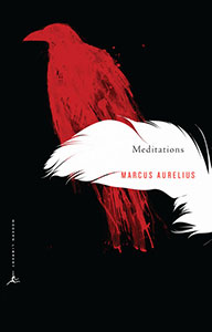 Front cover of the book 'Meditations' by Marcus Aurelius (translation by Gregory Hays).